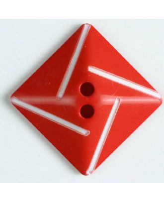 plastic button with 2 holes - Size: 34mm - Color: red - Art.No. 370493