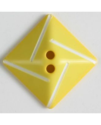plastic button with 2 holes - Size: 34mm - Color: yellow - Art.No. 370494