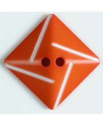 plastic button with 2 holes - Size: 34mm - Color: orange - Art.No. 370495