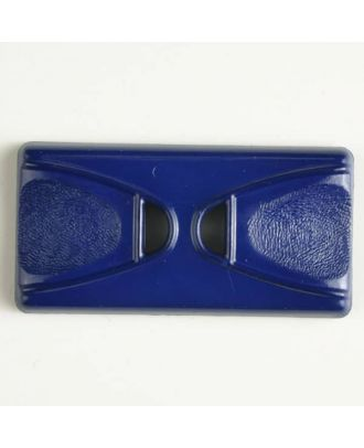 plastic button with 2 holes - Size: 45mm - Color: blue - Art.No. 400145