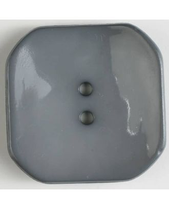 plastic button square with 2 holes - Size: 30mm - Color: grey - Art.No. 344600