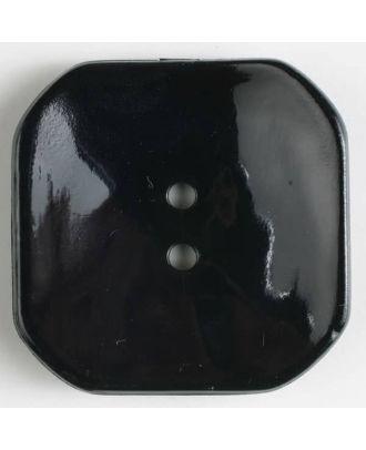 plastic button square with 2 holes - Size: 40mm - Color: black - Art.No. 400161