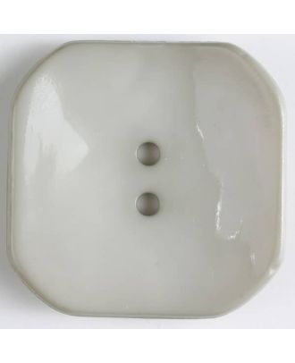 plastic button square with 2 holes - Size: 40mm - Color: beige - Art.No. 404601