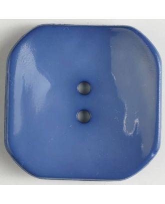plastic button square with 2 holes - Size: 40mm - Color: blue - Art.No. 404605