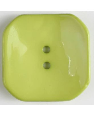plastic button square with 2 holes - Size: 40mm - Color: green - Art.No. 404606