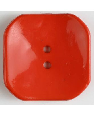 plastic button square with 2 holes - Size: 40mm - Color: red - Art.No. 400163