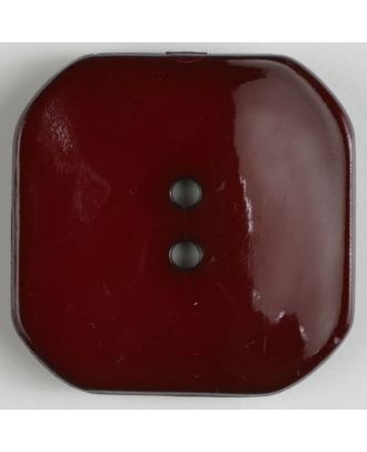 plastic button square with 2 holes - Size: 30mm - Color: red - Art.No. 344609
