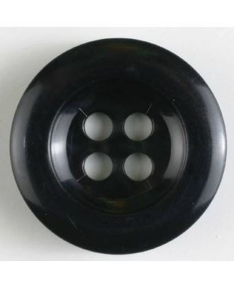 polyamide button 4 holes - Size: 28mm - Color: black - Art.No. 341017