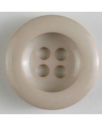 polyamide button 4 holes - Size: 34mm - Color: beige - Art.No. 375619