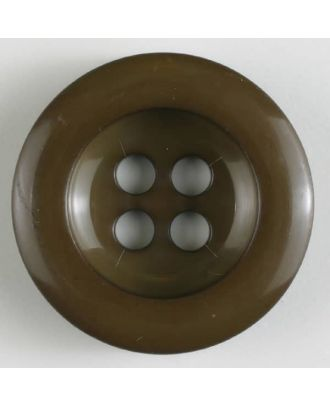 polyamide button 4 holes - Size: 28mm - Color: brown - Art.No. 345621