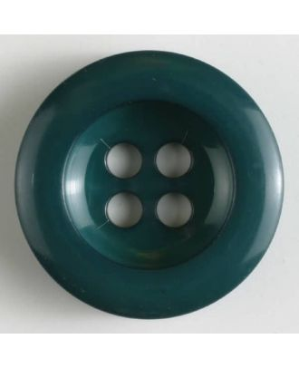 polyamide button 4 holes - Size: 28mm - Color: green - Art.No. 345624