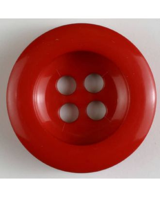polyamide button 4 holes - Size: 28mm - Color: red - Art.No. 341019