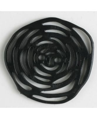 polyamide button 2 holes - Size: 40mm - Color: black - Art.No. 400216