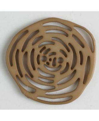 polyamide button 2 holes - Size: 40mm - Color: beige - Art.No. 406619