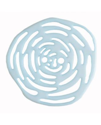 polyamide button 2 holes - Size: 40mm - Color: blue - Art.No. 406620