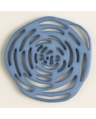 polyamide button 2 holes - Size: 40mm - Color: blue - Art.No. 406621