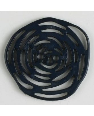polyamide button 2 holes - Size: 40mm - Color: navy blue - Art.No. 400217