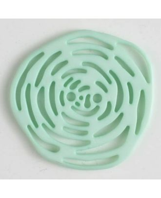 polyamide button 2 holes - Size: 40mm - Color: green - Art.No. 406623
