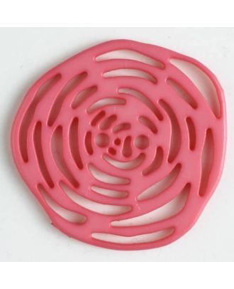 polyamide button 2 holes - Size: 40mm - Color: pink - Art.No. 406624