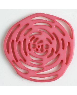 polyamide button 2 holes - Size: 40mm - Color: pink - Art.No. 406624