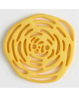 polyamide button 2 holes - Size: 40mm - Color: yellow - Art.No. 406626