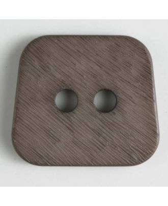 polyamide button 2 holes - Size: 30mm - Color: brown - Art.No. 346630