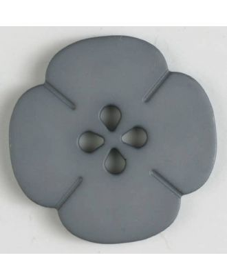 plastic button flower with 2 holes - Size: 25mm - Color: grey - Art.No. 314609