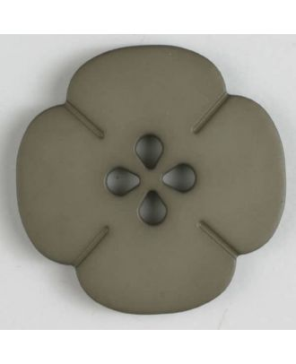 plastic button flower with 2 holes - Size: 25mm - Color: brown - Art.No. 314611