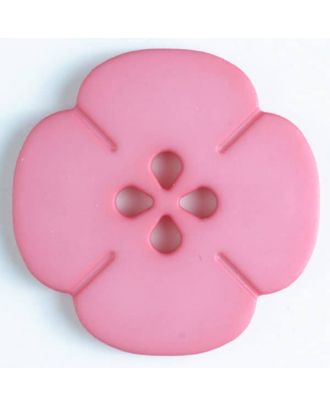 plastic button flower with 2 holes - Size: 25mm - Color: pink - Art.No. 314615