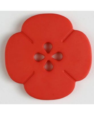 plastic button flower with 2 holes - Size: 20mm - Color: red - Art.No. 261179