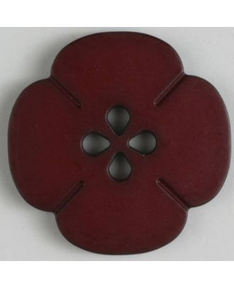 plastic button flower with 2 holes - Size: 20mm - Color: red - Art.No. 264616