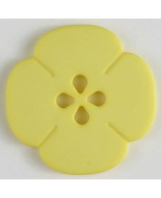 plastic button flower with 2 holes - Size: 20mm - Color: yellow - Art.No. 264617