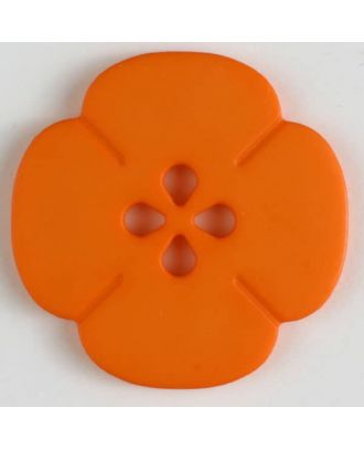 plastic button flower with 2 holes - Size: 25mm - Color: orange - Art.No. 314618
