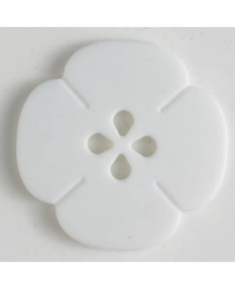 plastic button flower with 2 holes - Size: 20mm - Color: white - Art.No. 261177
