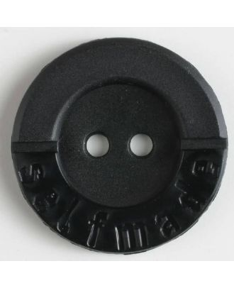 polyamide button 2 holes selfmade - Size: 36mm - Color: black - Art.No. 370557