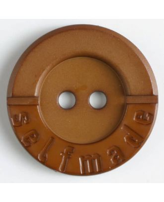 polyamide button 2 holes selfmade - Size: 36mm - Color: brown - Art.No. 375610
