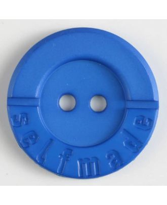 polyamide button 2 holes selfmade - Size: 36mm - Color: blue - Art.No. 375612