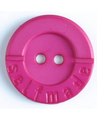 polyamide button 2 holes selfmade - Size: 36mm - Color: pink - Art.No. 375615