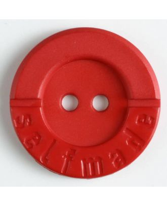 polyamide button 2 holes selfmade - Size: 36mm - Color: red - Art.No. 370558