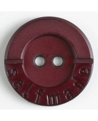 polyamide button 2 holes selfmade - Size: 36mm - Color: wine red - Art.No. 375616