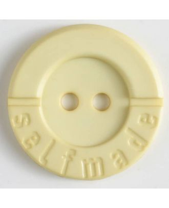 polyamide button 2 holes selfmade - Size: 36mm - Color: yellow - Art.No. 375617