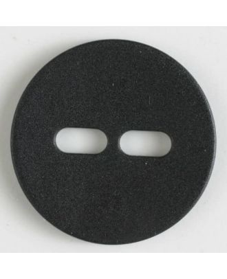 polyamide button with 2 holes - Size: 20mm - Color: black - Art.No. 261196