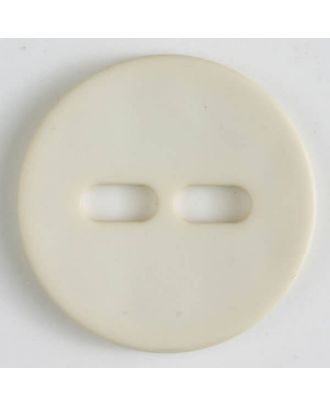 polyamide button with 2 holes - Size: 28mm - Color: beige - Art.No. 347610