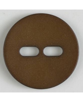 polyamide button with 2 holes - Size: 20mm - Color: brown - Art.No. 267611