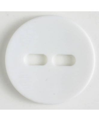 polyamide button with 2 holes - Size: 38mm - Color: white - Art.No. 370608