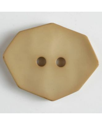 polyamide button 2 holes - Size: 50mm - Color: beige - Art.No. 450152