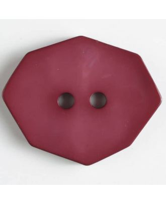 polyamide button 2 holes - Size: 50mm - Color: wine red - Art.No. 450158