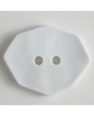 polyamide button 2 holes - Size: 50mm - Color: white - Art.No. 450150