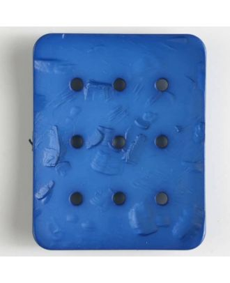 polyamide button with  9 holes - Size: 54mm - Color: blue - Art.No. 400238