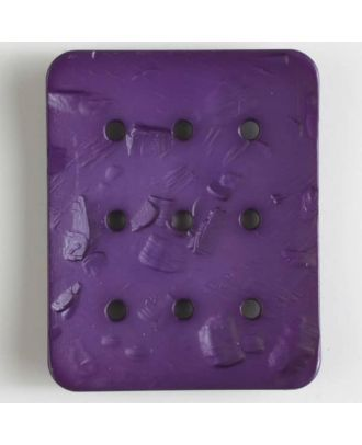polyamide button with  9 holes - Size: 54mm - Color: lilac - Art.No. 400239